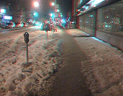 Snow on Ditmas Avenue in 3D