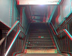 Ditmas Avenue station stairway in 3D