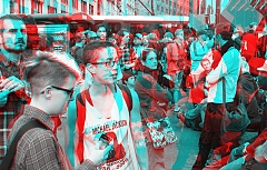 Occupy Wall Street 3D: Waiting for the march to start