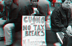 Occupy Wall Street 3D: No Tax Breaks for Millionaires