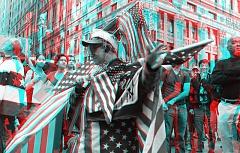 Occupy Wall Street 3D: Flag man