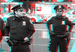 Occupy Wall Street 3D: Cops against the barricades