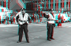 Occupy Wall Street 3D: Cops awaiting marchers